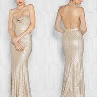 Colors 1693 Sequin Glamour Prom Evening Dress