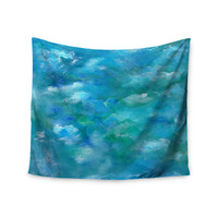 "Rosie Brown ""Ocean Waters"" Blue Aqua Wall Tapestry"