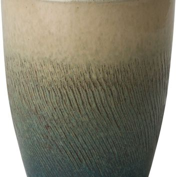 Bullet Planter With A Bayside Green Glaze