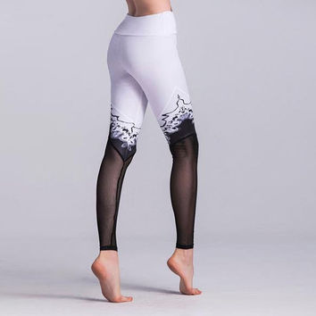 Splice Elastic Quick Drying Yoga Leggings, Gym Leggings, Yoga Leggings, Mesh Leggings, Fashion Leggings, Yoga Pants, Active Wear, Gym Outfit