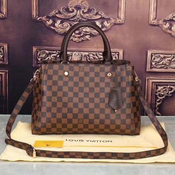 LV Women Shopping Bag Leather Satchel Crossbody Shoulder Bag-14
