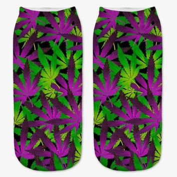 Tropical Weeds Ankle Socks