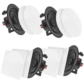 "Pyle Home 5.25"" Bluetooth Ceiling And Wall Speakers 4 Pk"