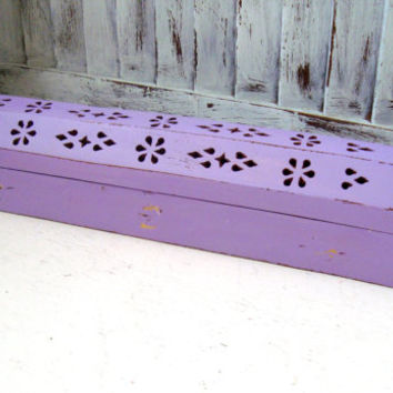 Purple Incense Box, Incense Burner, Incense Coffin, Shabby Chic Distressed Incense Holder, Wooden Incense Cone Holder, Gift Ideas
