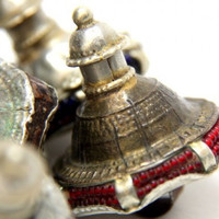 Vintage Kutch Tribal  Metal Shank Banjara Buttons Ethnic Design From Rajasthan India 1 Piece