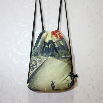 The Walking Dead Strings Backpack Travel Canvas Bag