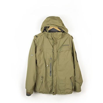 686 Smarty 3 in 1 Snowboard Rain Commander Soldier Jacket Olive Army Green Parka Mens size Medium - Large