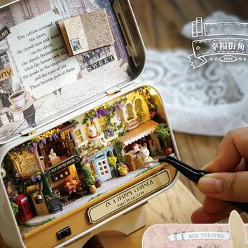 Mystery Box! Tin Box Theatre DIY Dollhouse Mini