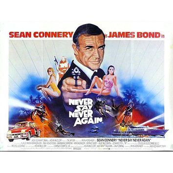 James Bond Poster//Vintage James Bond Movie Poster//Never Say Never Again Movie Poster//Movie Poster//Poster Reprint