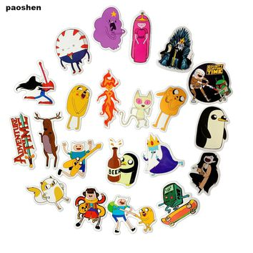 25 Pcs Adventure Time Pvc Waterproof Doddle Sticker For Luggage Skateboard Phone Laptop Moto Guitar Bicycle DIY Adesivi Stickers