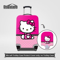 Elastic Stretch Suitcase Cover For Children Cartoon Hello Kitty Print Women Travel Luggage Protective Cover For 18-30 Inch Cases