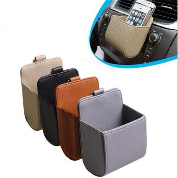 Car Organizer Air Vent Phone Pouch Storage Car Pocket Mobil Phone Case Air Outlet Hanging Storage Organizer For Phone Keys
