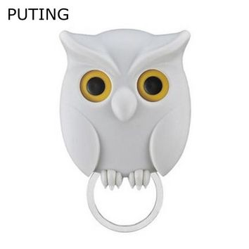 1 Piece Practical Owl Key Holder Wall Mounted Magnetic Key Hanger Home Decor Creative Creative Living Room Key Hook YLM9125