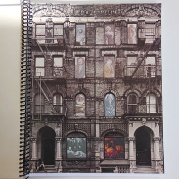 "LED ZEPPELIN Notebook - ""Physical Graffiti"" Record Cover"