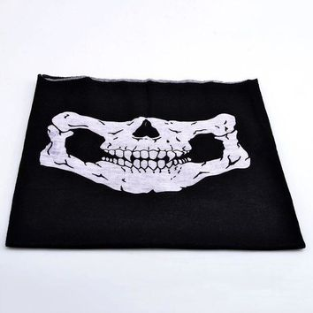 ESBON Seamless MultiFunction Skull Cycling Face Mask Scarf Hat Motorcycle Bike Accessories Halloween Hiking Camping Equipment Bandana