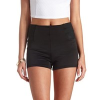 BANDED-SIDE HIGH-WAISTED SHORTS