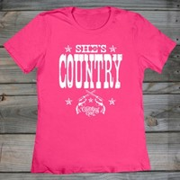 Women's Country Girl ® She's Country Fashion Fit Tee
