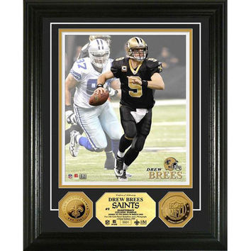 Drew Brees 24KT Gold Coin Photo Mint