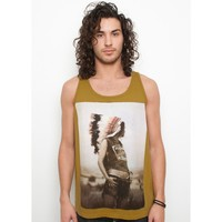 Native Spirit Men's Tank Top - Dried Tobacco - Blood is the New Black