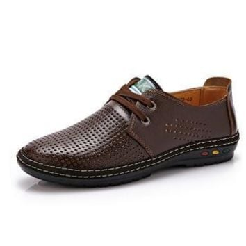 Men's Leather Breathable Summer Shoes
