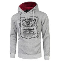 Jack Daniels Printed Hooded Sweatshirt