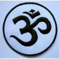 Om AUM Design Symbol Hinduism Embroidered Iron on Patch