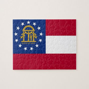 Puzzle with Flag of Georgia State