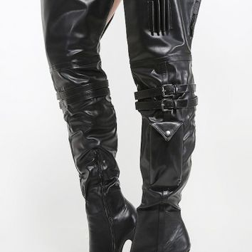 Wild Rose Gilly-87 Utility Thigh High Boots | MakeMeChic.com