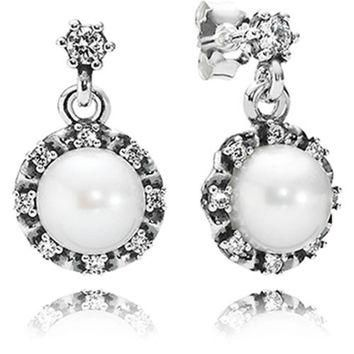 Authentic Pandora Jewelry - Everlasting Grace Pearl Earrings