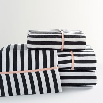 The Emily & Meritt Pirate Stripe Flannel Sheet Set