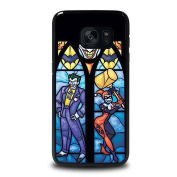 joker and harley quinn art samsung galaxy s7 edge case cover  number 1