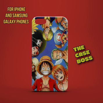 TEAM ONE PIECE Design Custom Phone Case for iPhone 6 6 Plus iPhone 5 5s 5c iphone 4 4s Samsung Galaxy S3 S4 S5 Note3 Note4 Fast!