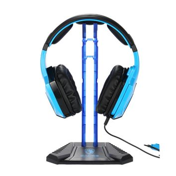 Ship from US SADES Gaming Headphone Stand Earphone Holder Professional display rack Headset Hanger Bracket for all phones Blue