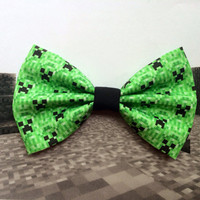 Creeper Inspired Hair Bow or Bow Tie