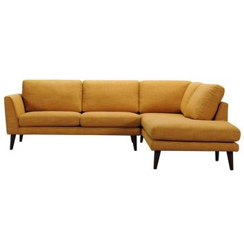 Divani Casa Drew Modern Fabric Sectional Sofa