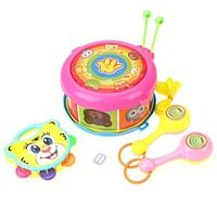 4pcs Musical Instruments Band Baby Toys Rattle Drum Shaker Toy for Baby Children Boy Early Learning Educational Toys Rattles