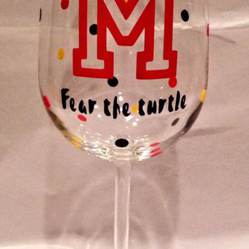 Personalized Wine Glass, College Wine Glass, University Wine Glass
