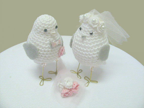 Crochet Wedding Gift: Crochet Wedding Love Birds From Alegra85 On Etsy