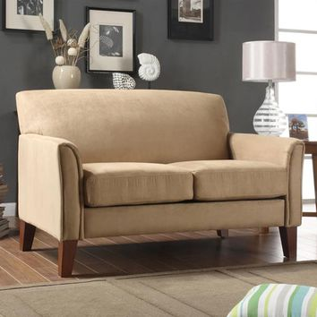 HomeHills 229913PT-2TL Walker Peat Microfiber Loveseat