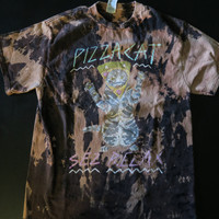 Destroyed Pizza Cat Shirt in an Adult Medium