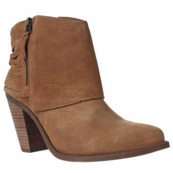 Jessica Simpson Cerrina Western Ankle Booties, Honey Brown, 10 US / 40 EU