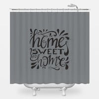Hand Lettered Home Shower Curtain