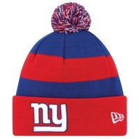 New Era New York Giants 2013 On-Field Player Sideline Sport Knit Hat - Red/Royal Blue