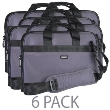 (6-Pack) Cocoon CLB409GY Ballistic Nylon Laptop Case w/Strap & Grid-It Organization System - Fits 15.6 (Gun Gray)