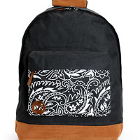 Mi-Pac Black Paisley Pocket Backpack