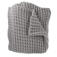 Claire Gray Knit Throw