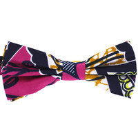 Tok Tok Designs Pre-Tied Bow Tie for Men & Teenagers (B415, African Wax Fabric)