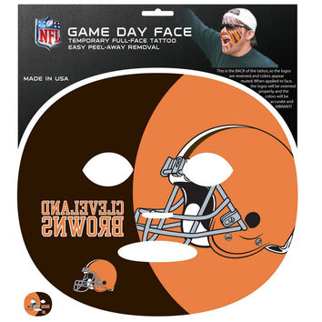 Cleveland Browns Game Face Temporary Tattoo FGFD025