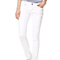 Taylor Low-Rise Skinny Jeans in White