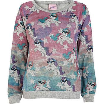 Grey My Little Pony print dolman top - pajamas / loungewear - sleepwear / Onesuits - women